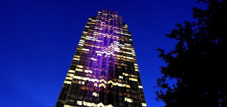 Williams Tower – Color Changing LED Lighting Show